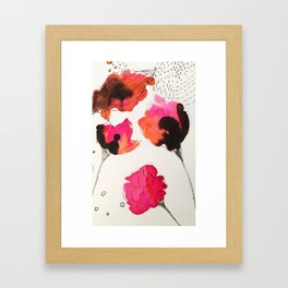 Blooming Flowers Framed Art Print