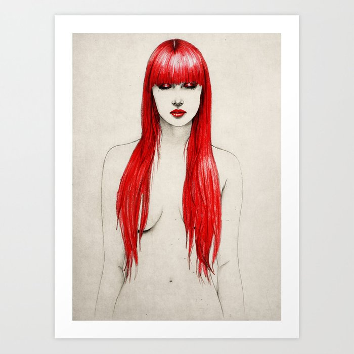 Red Stages Art Print