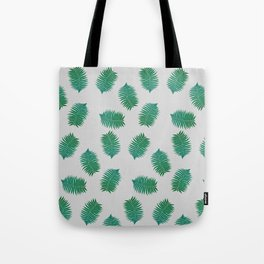 Turquoise leaves nature pattern Tote Bag