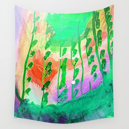 Abstract floral Wall Tapestry