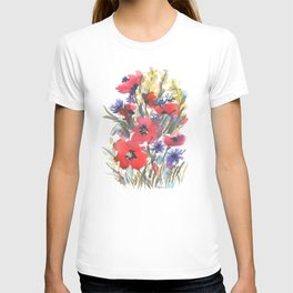 Big Poppy Field T-shirt
