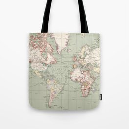 Vintage Map of The World (1915) Tote Bag