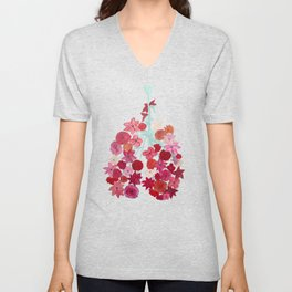 Simply Breathe - Lungs For Whitney Unisex V-Neck
