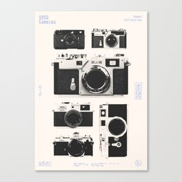 Cameras : 1950 / Japan Collection Canvas Print