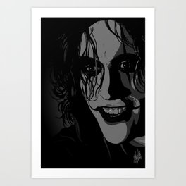 The Crow portrait (Brandon Lee) Art Print