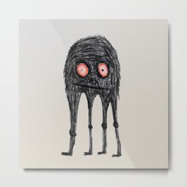 Leggy Monster Metal Print
