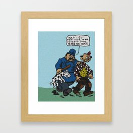 Happy Hooligan Nabbed Again Framed Art Print