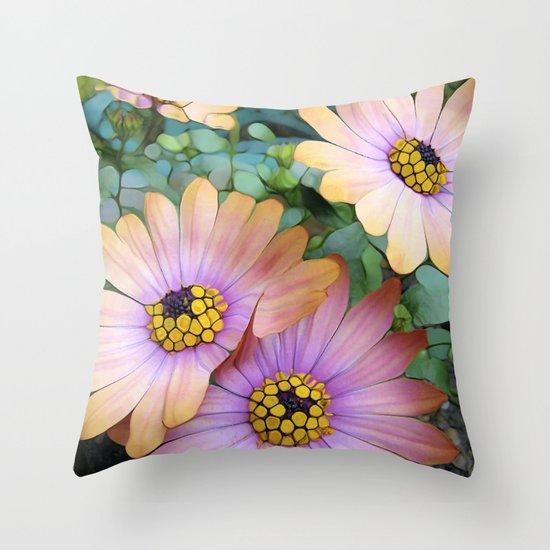 Glowing Gerbera's Throw Pillow