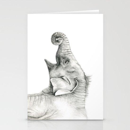 Baby Elephant G005 Stationery Cards