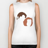 dana scully Biker Tanks featuring Mulder and Scully, X-Files by Mars