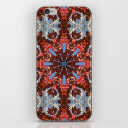 Dogwood leaves, birch branches and sky mandala iPhone Skin