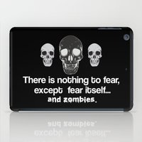 zombies iPad Cases featuring Fear Zombies by Spooky Dooky