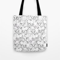 woodland Tote Bags featuring Woodland by Lydia Meiying