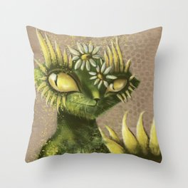 Sun Flower Cat Throw Pillow