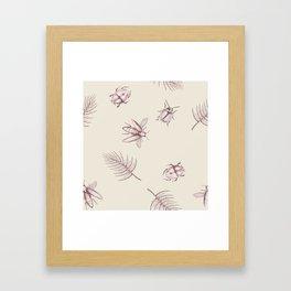 Pink bugs Framed Art Print