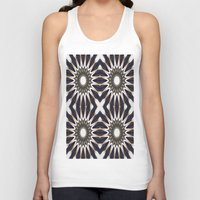 chocolate Tank Tops featuring Chocolate Flower Mandala Pattern by 2sweet4words Designs
