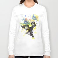 luigi Long Sleeve T-shirts featuring Luigi Riding Yoshi by idillard