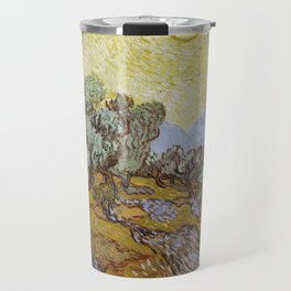 Vincent van Gogh - Olive Trees with Yellow Sky and Sun Travel Mug