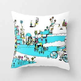PING PONG SPRING Throw Pillow