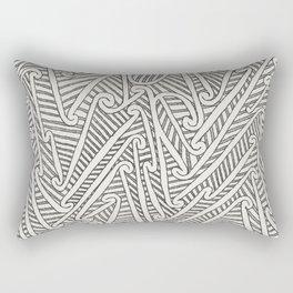 Maori Pattern Rectangular Pillow