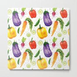 Very Veggie Pattern Metal Print