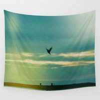 fly Wall Tapestries featuring Fly by Viviana Gonzalez