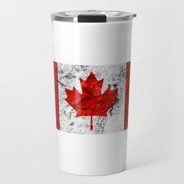 Canada Day Flag Canadian July 1st horizontal Travel Mug