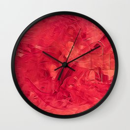 A red Moment Wall Clock