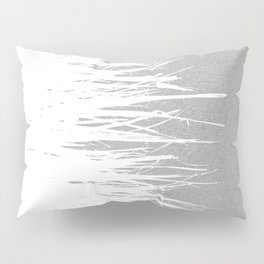 Concrete Fringe White Side Pillow Sham