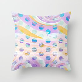 Colourful marble dots Throw Pillow