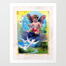 Easter Fairy Art Print