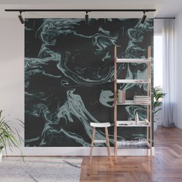 Ruin - Dark Suminagashi Marble Series: 07 Wall Mural