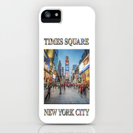 Times Square Sparkle (with typography) iPhone Case