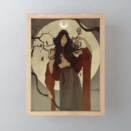 Hunter's Moon Framed Mini Art Print