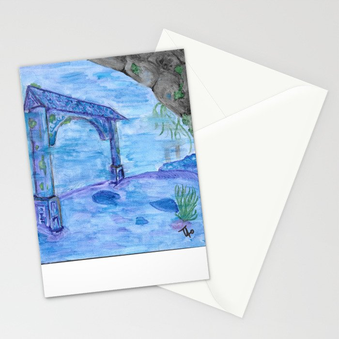 Underwater Chinese Ruins Stationery Cards
