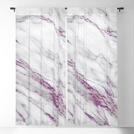 Gray and Ultra Violet Marble Agate Blackout Curtain