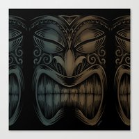 tiki Canvas Prints featuring Tiki by Nano Barbero