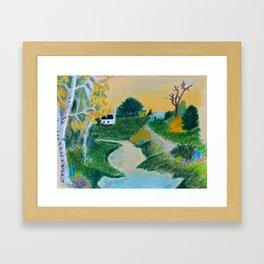 Storybook Town Framed Art Print