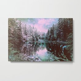 A Cold Winter's Night Sage Winter Wonderland Metal Print