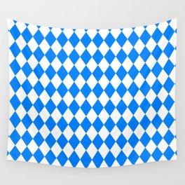 Diamonds (Azure/White) Wall Tapestry