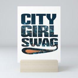 City Girl Swag Metropolitan Mini Art Print