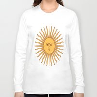 argentina Long Sleeve T-shirts featuring argentina flag sun by ArtSchool