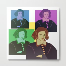 CHRISTOPHER MARLOWE - ELIZABETHAN POET, PLAYWRIGHT, SPY, FRIEND OF SHAKESPEARE Metal Print