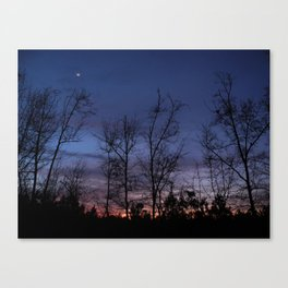 The line between night and day Canvas Print