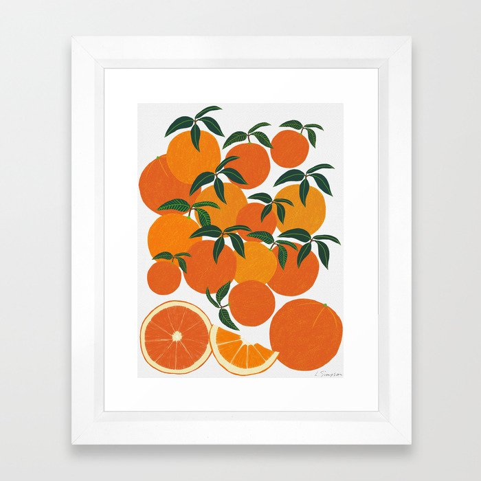 Orange Harvest - White Framed Art Print