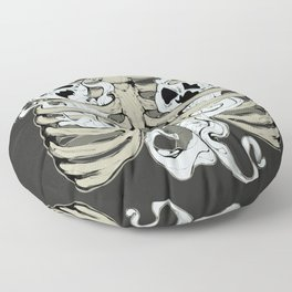 Ribcage Ghosts Floor Pillow