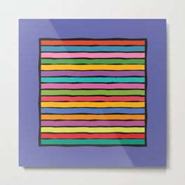 dp203-8B Colorful Stripes Metal Print