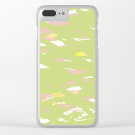 Lime terrazzo Clear iPhone Case