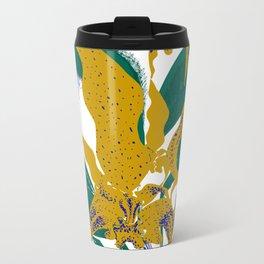 Midnight blooms - Asian paradise fly catcher bird Metal Travel Mug