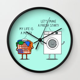 Clean start Wall Clock